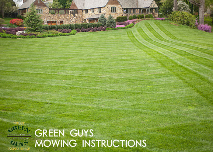 Mowing Instructions from Colorado's premier landscaping company