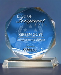 Green Guys Snow Removal Award