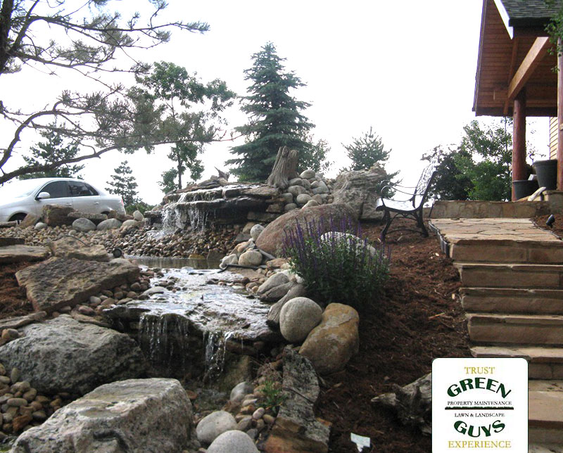 Shows Rocky Mountain Landscaping Water Feature